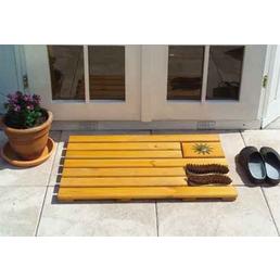 PROMADINO Fußabtreter, BxH: 80 x 4 cm, Kiefernholz, honigbraun