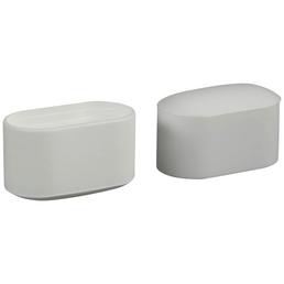 HETTICH Fußkappe, Kunststoff, Weiß, 38 x 20 x 20 mm