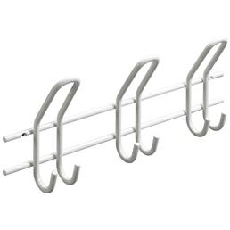 HETTICH Garderobenleiste, Weiß, 3 Haken, Stahl, Weiß, Stahl, 155 x 430 x 75 mm