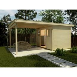 WEKA Gartenhaus-Set »Lounge mit Anbau, Gr. 5«, BxT: 559 x 338 cm, Flachdach