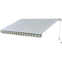 Gelenkarmmarkise, BxT: 400 x 250 cm, anthrazitgrau gestreift