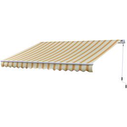 Gelenkarmmarkise, BxT: 400 x 250 cm, zitronengelb/orange gestreift