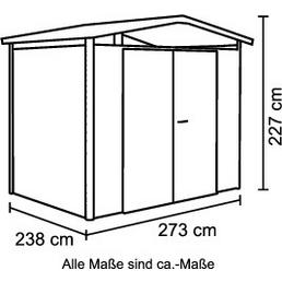 BIOHORT Gerätehaus, Außenmaße B x T: 273  x 238  cm