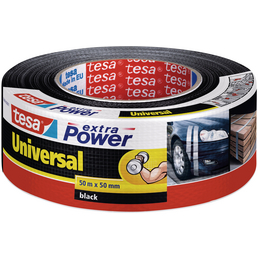 TESA Gewebeband, extra Power Universal, 50 m x 50 mm, Schwarz