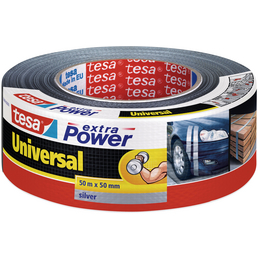 TESA Gewebeband, extra Power Universal, 50 m x 50 mm, Silber