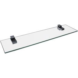 FACKELMANN Glasablage, transparent/chromfarben