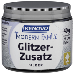 RENOVO Glitzerzusatz »Modern Family«, silberfarben, 40 g