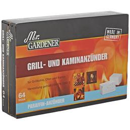 MR. GARDENER Grill- & Kaminanzünder, Paraffin-Anzünder 64 St.
