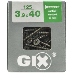 SPAX Grobgewindeschraube, 3,9 mm, Stahl, 125 Stk., GIX B 3,9x40 L