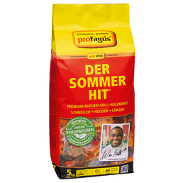 DER SOMMER-HIT Holzkohle, aus Buchenholz, 5 kg
