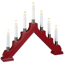 KONSTSMIDE Holzleuchter 7-flammig, rot, innen