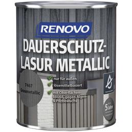 RENOVO Holzschutz-Lasur, Grau, außen