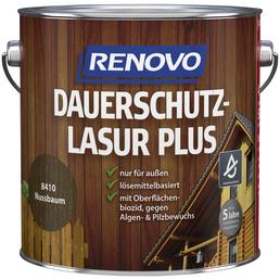 RENOVO Holzschutz-Lasur »PLUS«, für außen, 4 l, Nussbaum