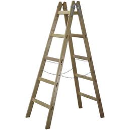 STEFAN STÖRINGER E. U. Holzstehleiter, Holz, Anzahl Sprossen 5, max. Tragfähigkeit 150 kg