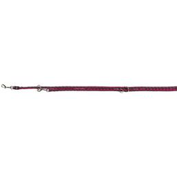 TRIXIE Hundeleine, Cavo, L–XL: 2,00 m/ø 18 mm, Gurtband, Grau | Pink