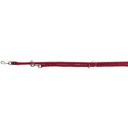TRIXIE Hundeleine, Cavo, L–XL: 2,00 m/ø 18 mm, Gurtband, Rot