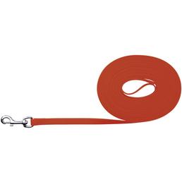 TRIXIE Hundeleine, Easy Life, 10 m/17 mm, PVC | Gurtband, Neonorange