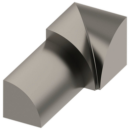 alfer® aluminium Innenecke, Viertelkreis, Silber, Fliesenmaß 10 mm