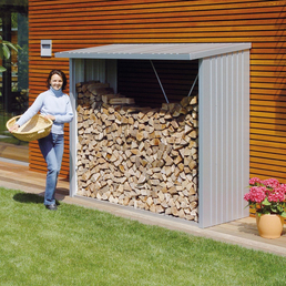 BIOHORT Kaminholzlager »WoodStock«, Außenmaße B x T x H: 157  x 102  x 199  cm