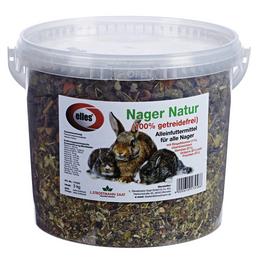 ELLES Kleintierfutter »Nager Natur«, 1 Eimer à 3000 g