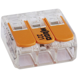 WAGO Klemme, COMPACT, Kunststoff, Orange, Leiter mit einem Querschnitt von 0,14/0,2 bis 4 mm²