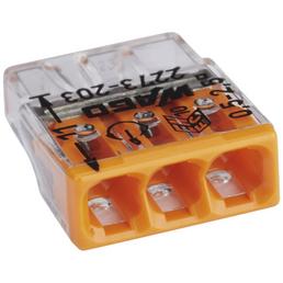 WAGO Klemme, COMPACT, Kunststoff, Orange, Leiter mit Querschnitt 0,5 – 2,5 mm²