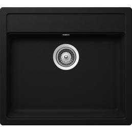 SCHOCK Küchenspüle, Nemo N-100 Nero, Granit   Komposit   Quarz, 57 x 51