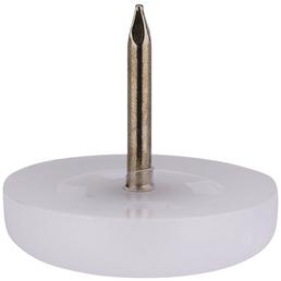 HETTICH Kunststoffgleiter, rund, mit Nagel, weiß, Ø 22 x 20 mm