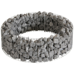 BELLISSA Lagerfeuerstelle, Höhe: 21  cm, silberfarben, Zink-Aluminium-legiert