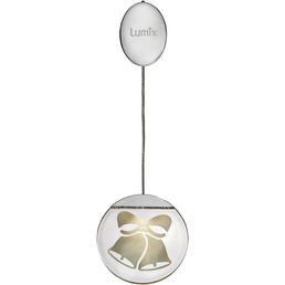 Krinner LED-Fensterbild »Lumix Deco Lights«, Glocken, rund, ø: 10 cm, Batteriebetrieb