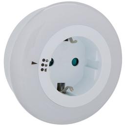 REV LED-Nachtlicht mit Dämmerungsautomatik weiß 1-flammig 1 W Ø 8 x 7 cm