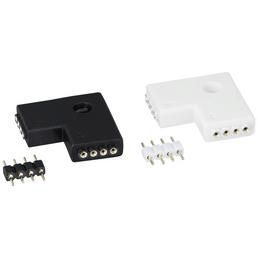 PAULMANN LED-Verbindungselement »YourLED«, Edge-Connector, Kunststoff, weiß/schwarz, 4 Stück