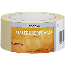 RENOVO Malerkreppband, 50 m x 50 mm, Beige