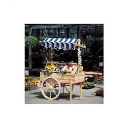 PROMADINO Marktwagen, BxLxH: 173 x 82 x 184 cm, Kiefernholz/Baumwolle