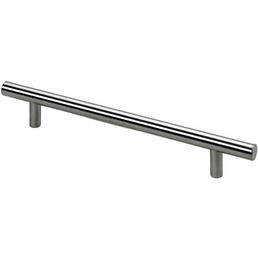 HETTICH Möbelgriff, Silber, Stahl, Lochabstand 160 mm, Länge 220 mm, Schraubmontage