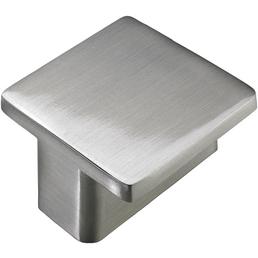 HETTICH Möbelknopf, Silber, Zinkdruckguss, 37,7 x 37,7 x 21 mm, Vollgewinde, Eckig, Edelstahl-Optik