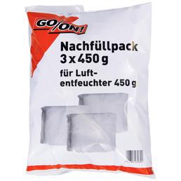 GO/ON! Nachfüllpaket für Luftentfeuchter, für Räume bis 16 m², 0,7 l, Calciumchlorid-Granulat