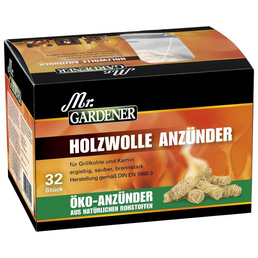 MR. GARDENER Öko-Holzwolle-Anzünder, Holzwolle-Anzünder 32 St.