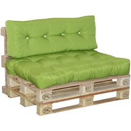 DOPPLER Palettenkissen, hellgrün, Uni, BxL: 80 x 120 cm