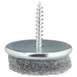 HETTICH Parkettgleiter, Stahl | Filz, Grau, Ø 28 x 26 mm