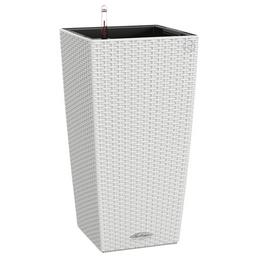 LECHUZA Pflanzgefäß »CUBICO«, Kunststoff, weiß, rechteckig