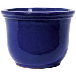 Kirschke Pflanzgefäß »Lage«, Steinzeug, blau, rund