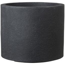 CASAYA Pflanzgefäß »ROMA«, Kunststoff, schwarz, zylindrisch