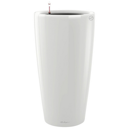 LECHUZA Pflanzgefäß »RONDO«, Kunststoff, weiß hochglanz, rund