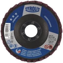 TYROLIT Polierscheibe, 22,23 mm Stärke, 125 mm Durchmesser