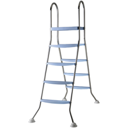 GRE Pool-Leiter, Stahl, geeignet für: Aufstellbecken bis 132 cm Höhe