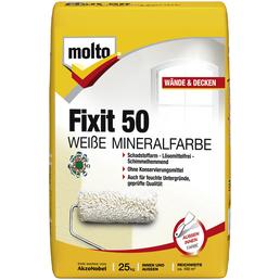 MOLTO Pulver-Mineralfarbe »Fixit 50«, weiß, 25 l, 62,5 m²