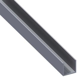 alfer® aluminium Quadrat-U-Profil, Combitech®, LxBxH: 2500 x 15,5 x 15,5 mm, Aluminium