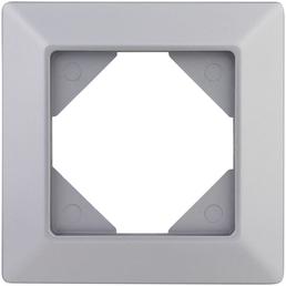 REV Rahmen 1-fach, Quadro, Silber, 1 cm