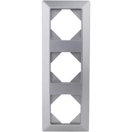 REV Rahmen 3-fach, Quadro, Silber, 1 cm